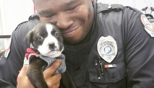 police-man-with-puppy