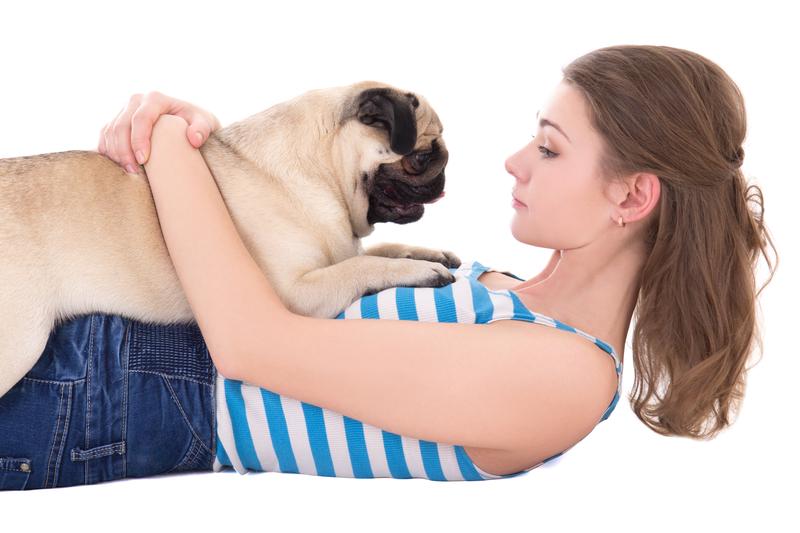 woman-holding-pug