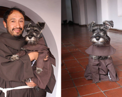 "Adorable Bolivian Monk Dog Named ""Friar Mustache"" is a Powerful Reminder of Love"