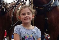 Dad Takes a Picture of His Little Girl by a Horse, Then Takes a Second Look and Can't Stop Laughing